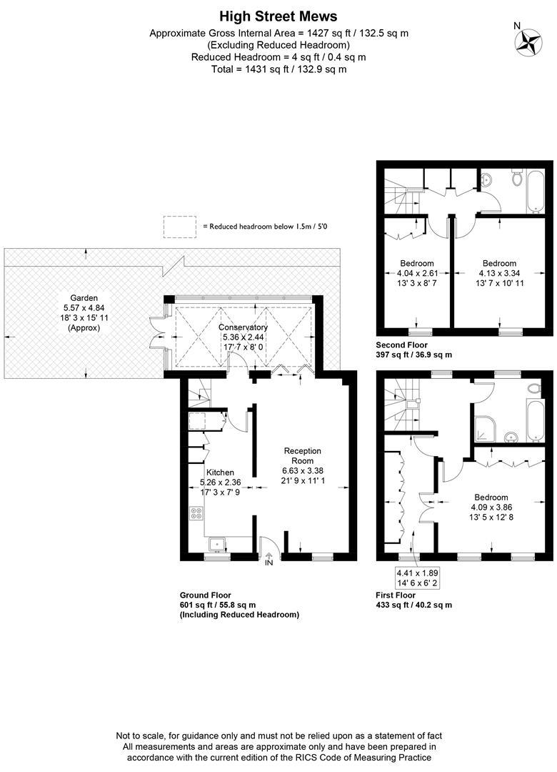 Floorplan for High Street Mews, Wimbledon Village